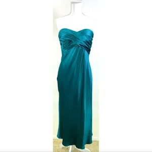 BANANA REPUBLIC SATIN STRAPLESS COCKTAIL DRESS